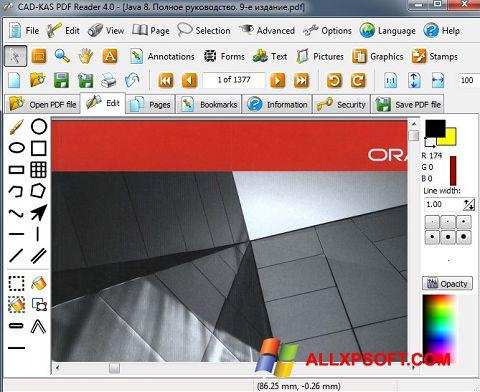 Снимак заслона PDF Reader Windows XP