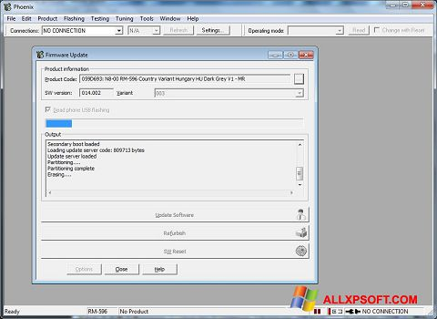 Снимак заслона Phoenix Windows XP