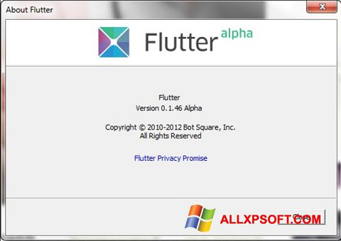 Снимак заслона Flutter Windows XP