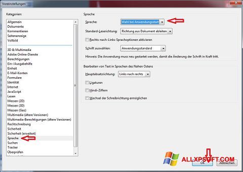 Снимак заслона Adobe Reader Windows XP