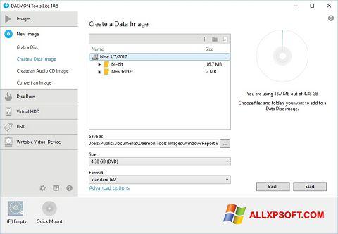 Снимак заслона DAEMON Tools Lite Windows XP