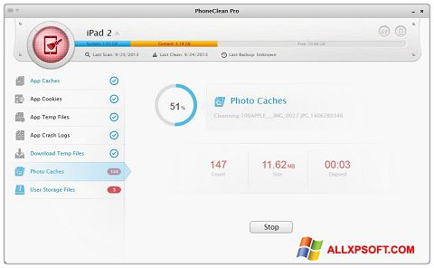 Снимак заслона PhoneClean Windows XP