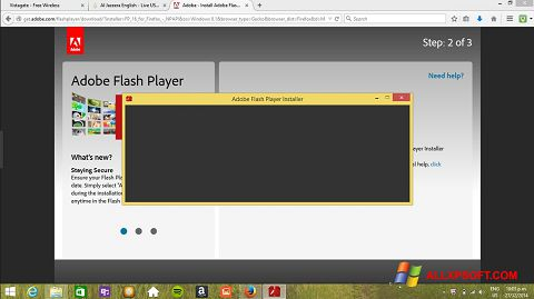 Снимак заслона Adobe Flash Player Windows XP
