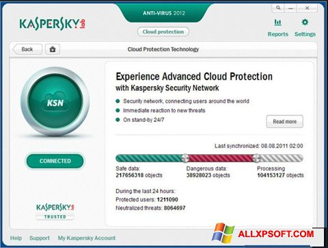 Снимак заслона Kaspersky Windows XP
