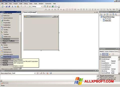 Снимак заслона Microsoft Visual Studio Windows XP