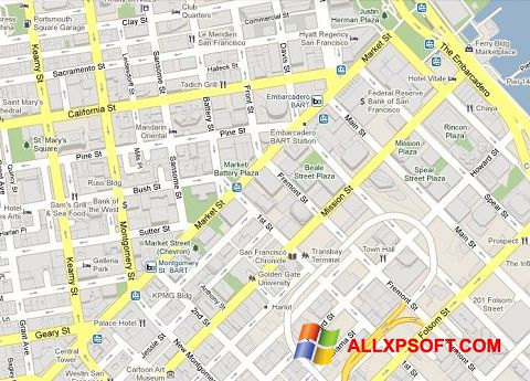Снимак заслона Google Maps Windows XP