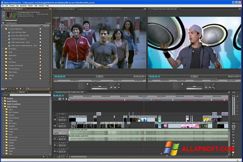 Снимак заслона Adobe Premiere Pro Windows XP