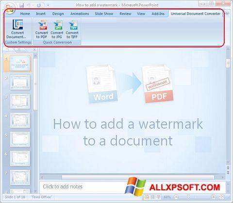 Снимак заслона Microsoft PowerPoint Windows XP