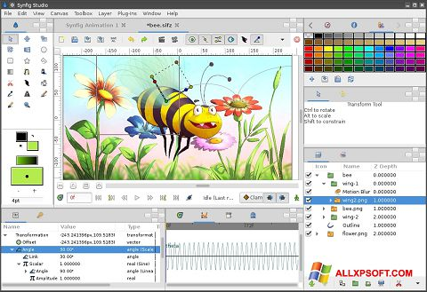 Снимак заслона Synfig Studio Windows XP