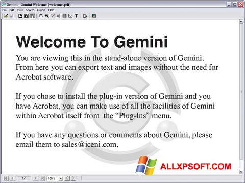 Снимак заслона Gemini Windows XP