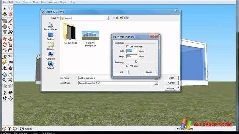 Снимак заслона Google SketchUp Windows XP