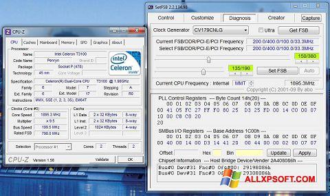Снимак заслона SetFSB Windows XP