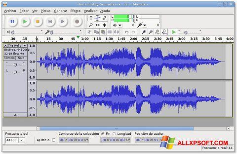 Снимак заслона Audacity Windows XP