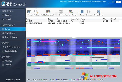 Снимак заслона Ashampoo HDD Control Windows XP