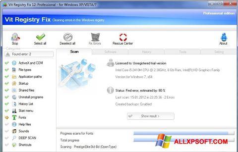 Снимак заслона Vit Registry Fix Windows XP