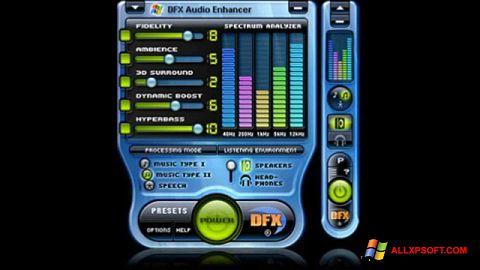 Снимак заслона DFX Audio Enhancer Windows XP
