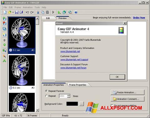 Снимак заслона Easy GIF Animator Windows XP