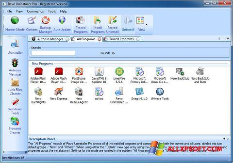 Снимак заслона Revo Uninstaller Pro Windows XP